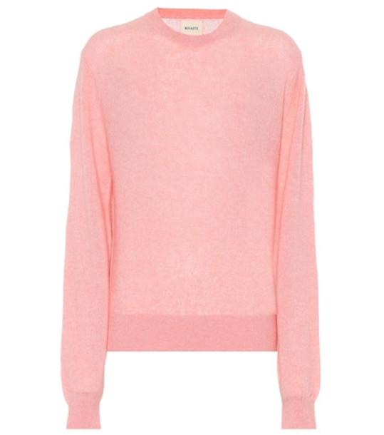Khaite Viola cashmere sweater in pink
