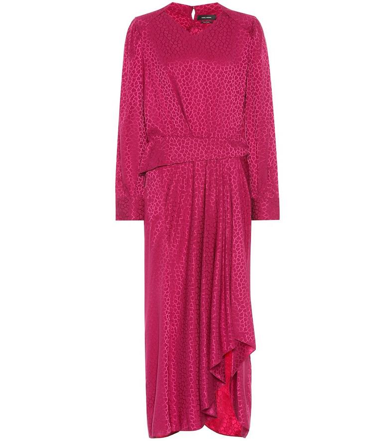 Isabel Marant Romina stretch-silk dress in purple