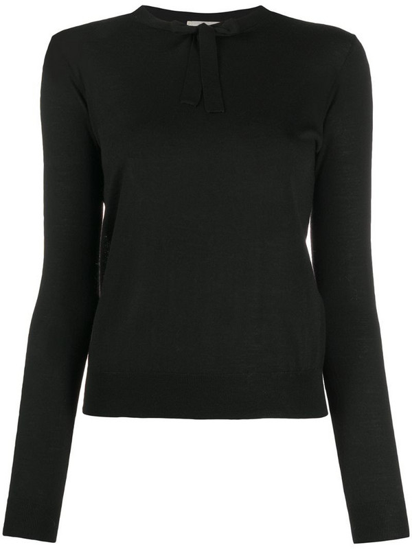 Forte Forte knot-detail knitted jumper in black