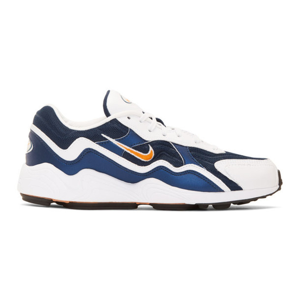 Nike White & Navy Air Zoom Alpha Sneakers
