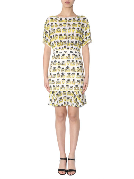 Boutique Moschino Printed Dress in bianco
