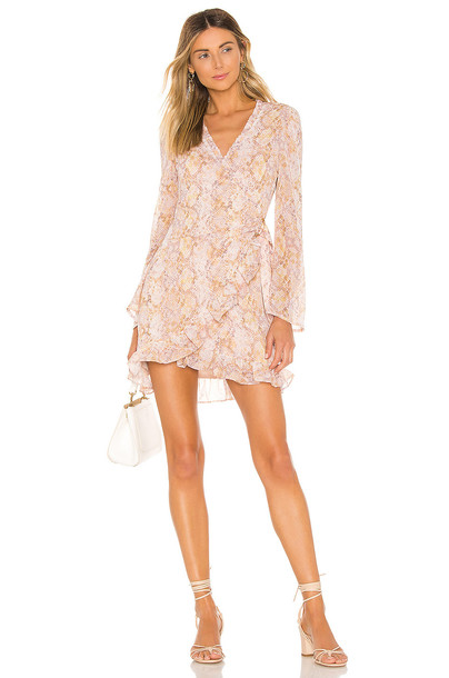 MAJORELLE Jayla Mini Dress in blush