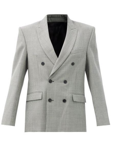 WARDROBE.NYC Wardrobe. nyc - Houndstooth-check Merino-wool Twill Blazer - Womens - Black White