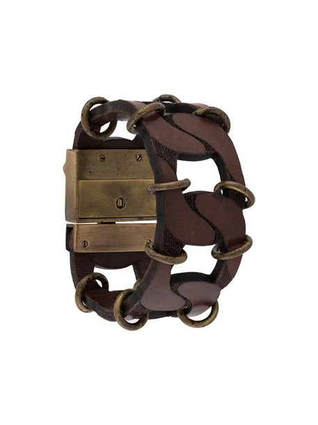 Gianfranco Ferré Pre-Owned 2000s chain link bracelet in brown