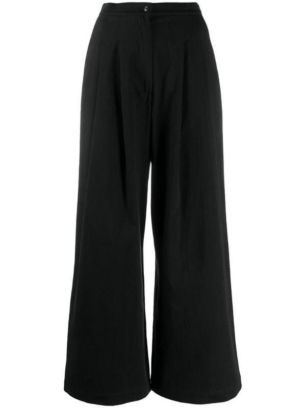 Katharine Hamnett London wide leg trousers in black