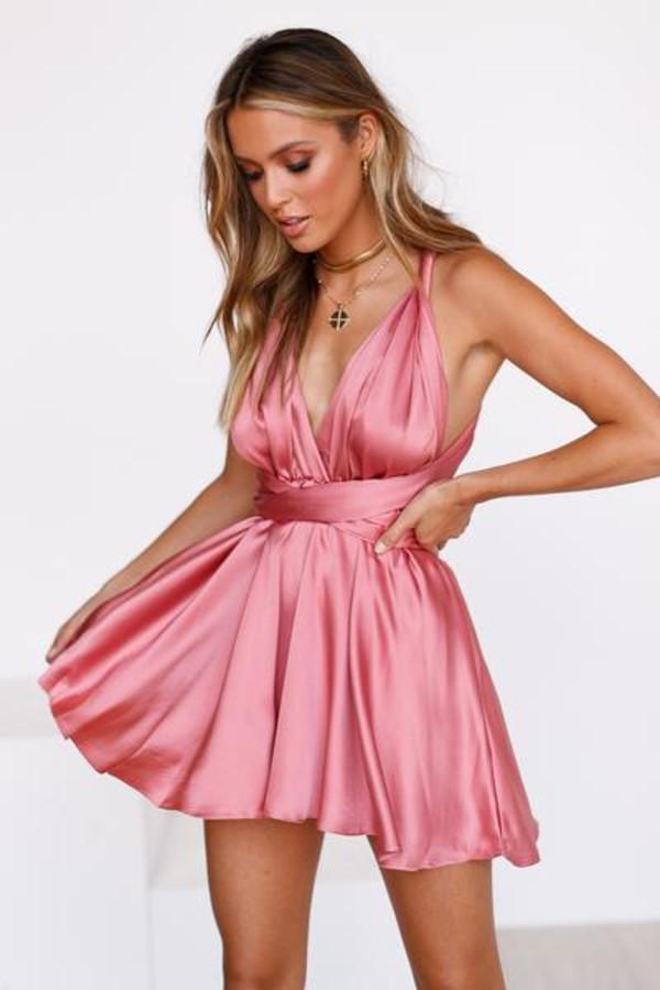 dress mini dress blush pink cocktail dress dressy