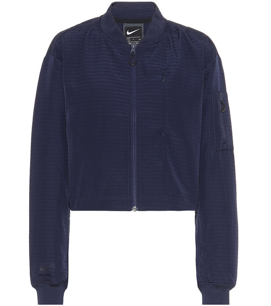Nike Tech Pack bomber jacket in blue
