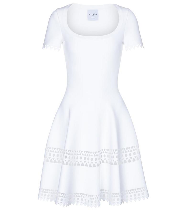 Alaïa Edition 2016 stretch-jersey minidress in white