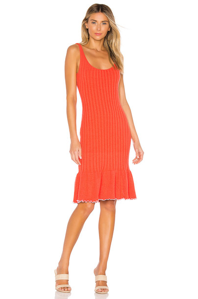 MAJORELLE Anderson Dress in red
