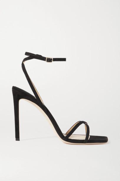 Jimmy Choo - Metz 100 Suede Sandals - Black
