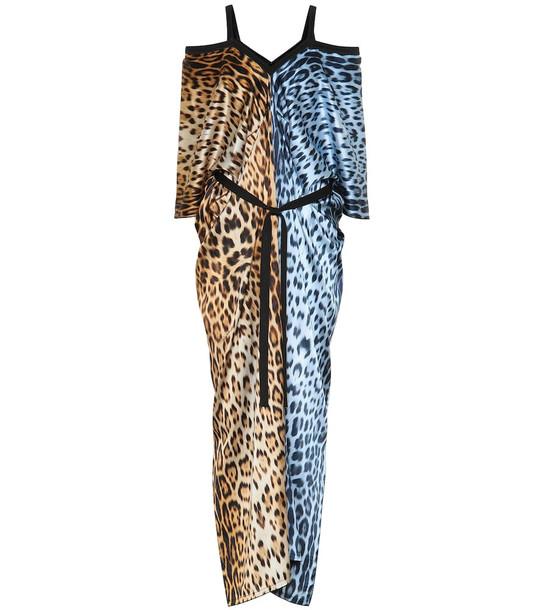 Roberto Cavalli Leopard-print kaftan
