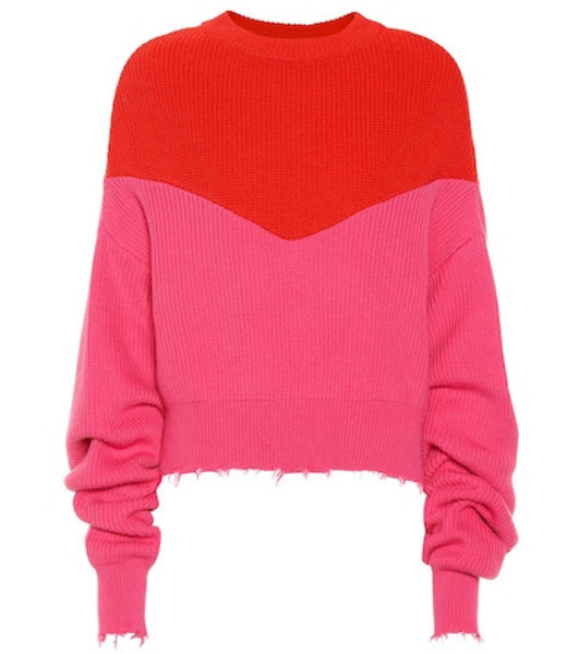 Unravel Cotton and cashmere sweater in pink