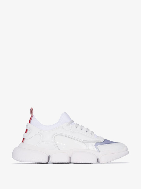 Moncler white briseis low top sneakers