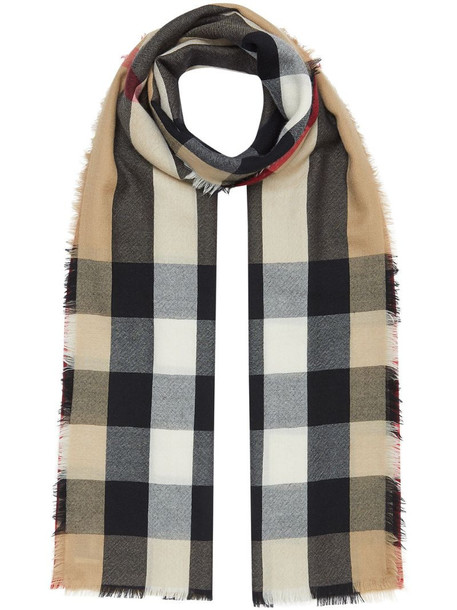 Burberry vintage check cashmere scarf in neutrals
