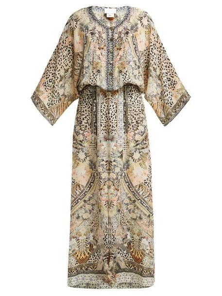 Camilla - Leopard Print Silk Sun Dress - Womens - Leopard