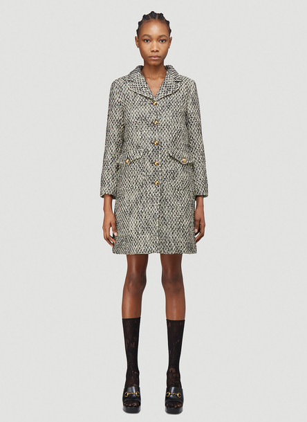 Gucci Tweed Coat in White size IT - 44