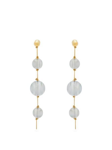 Burberry - Resin Sphere Drop Earrings - Womens - Blue