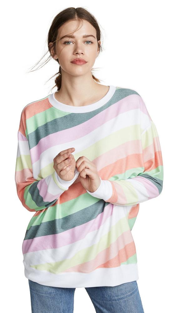 Wildfox Roadtrip Sorbet Stripe Sweatshirt in multi