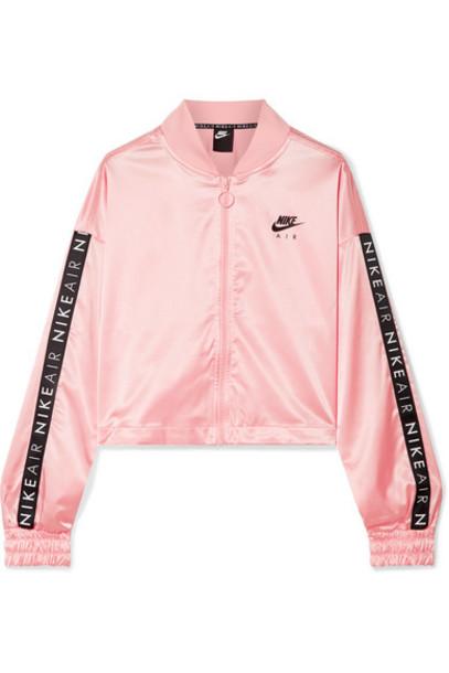 Nike - Air Printed Satin Track Jacket - Baby pink