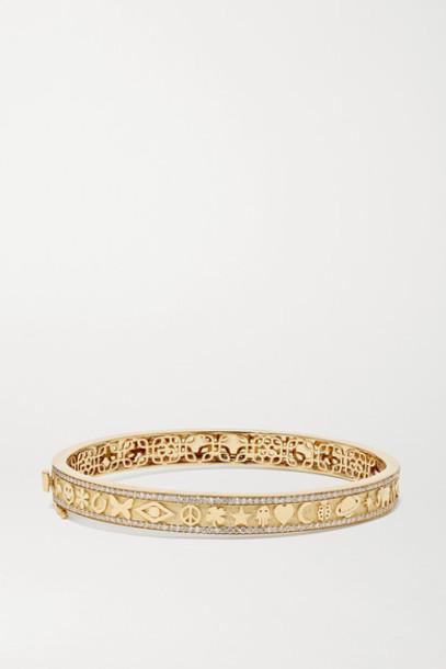 Sydney Evan - Icon 14-karat Gold Diamond Bangle