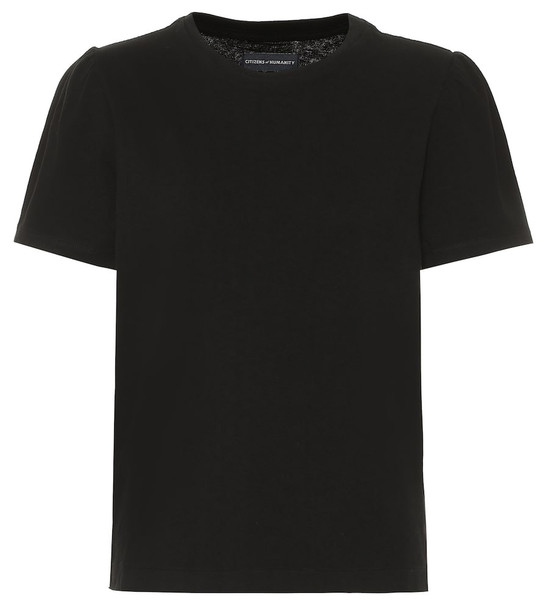 Citizens of Humanity Hannah cotton T-shirt in black