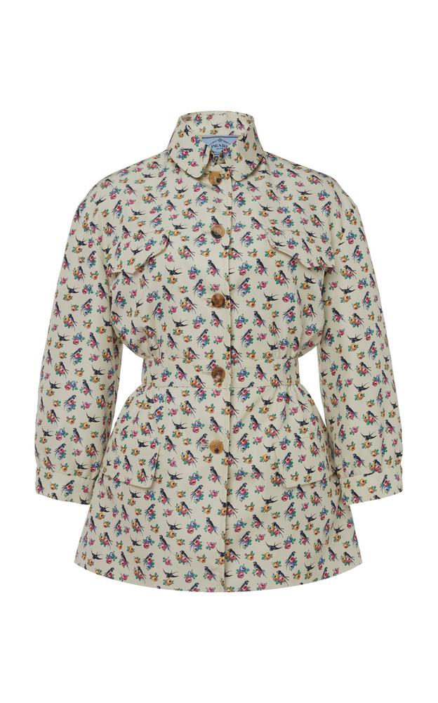 Prada Printed Silk Jacket Size: 38 in print