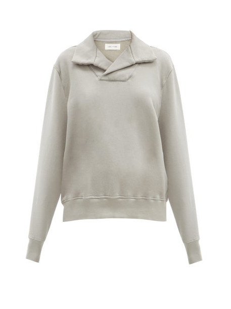 Les Tien - Yacht Cotton-jersey Sweatshirt - Womens - Light Grey