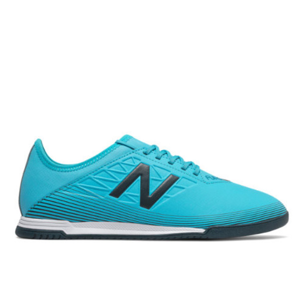 New Balance Furon v5 Dispatch IN Men's Soccer Shoes - Green/Blue (MSFDIBS5)