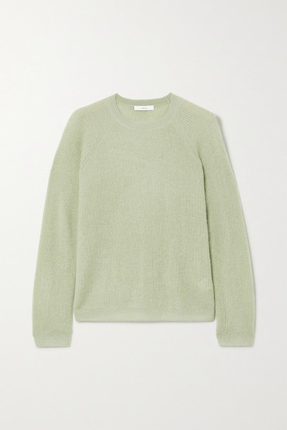 VINCE - Ribbed-knit Sweater - Green