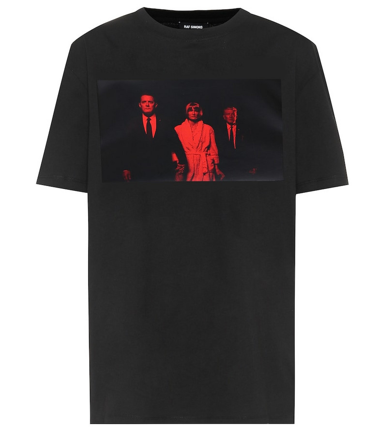 Raf Simons Graphic cotton T-shirt in black