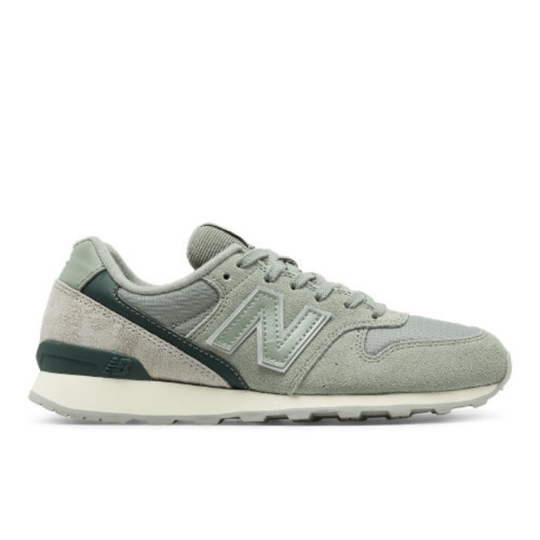 696 New Balance Women's Running Classics Shoes - Silver/Green (WL696CCC)