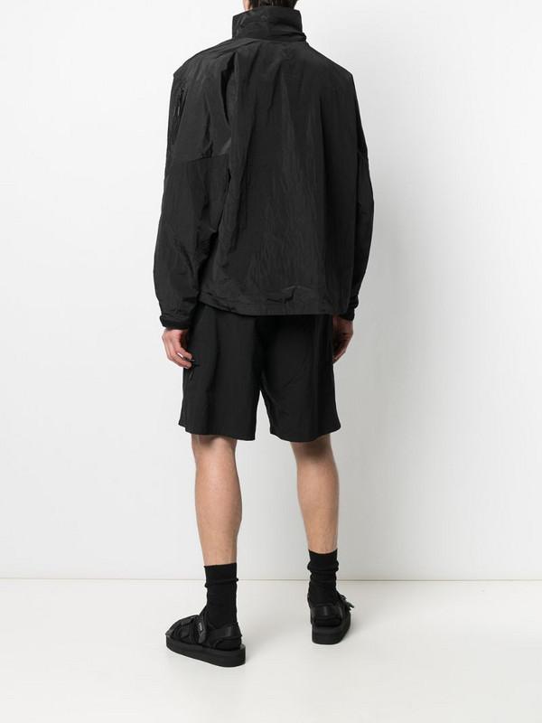 Hyein Seo crinkled zip-up lightweight jacket in black