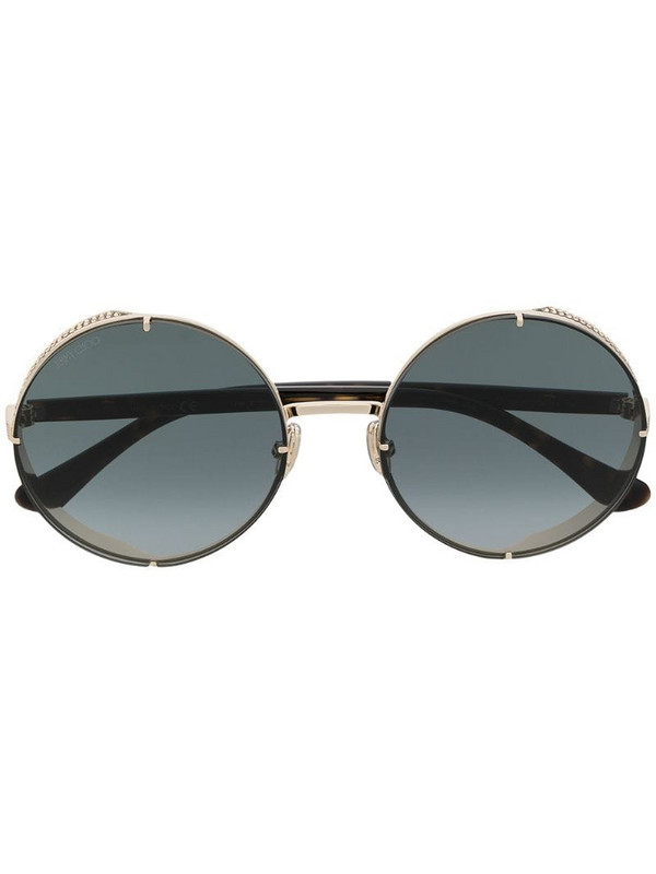 Jimmy Choo Eyewear Lilos round-frame sunglasses in gold