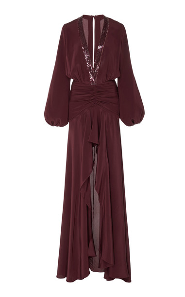 Silvia Tcherassi Danitza Dress Size: L in burgundy