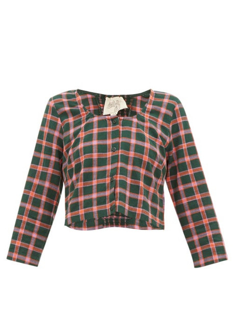 Ace & Jig - Imogen Checked Cotton Top - Womens - Green Multi