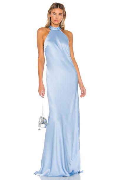 Jay Godfrey Brisco Gown in blue