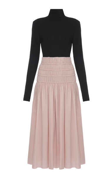 Lado Bokuchava Two-Tone Turtleneck Dress in multi