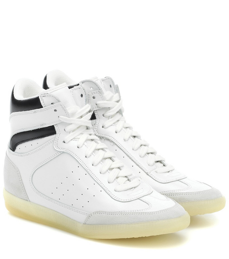 Isabel Marant Bayren leather sneakers in white