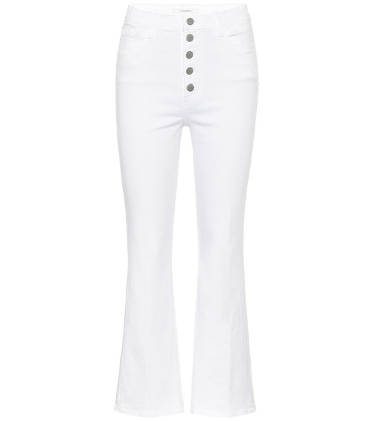 J Brand Lillie high-rise flared jeans in white