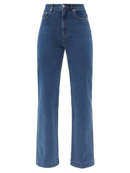 A.P.C. A.P.C. - Spring High-rise Straight-leg Jeans - Womens - Denim
