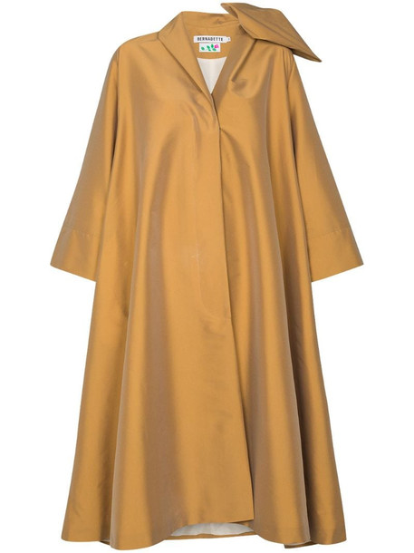Bernadette Christian bow-detail trench coat in neutrals