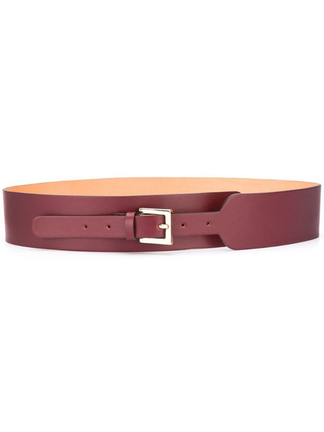 L'Autre Chose square buckle belt in red