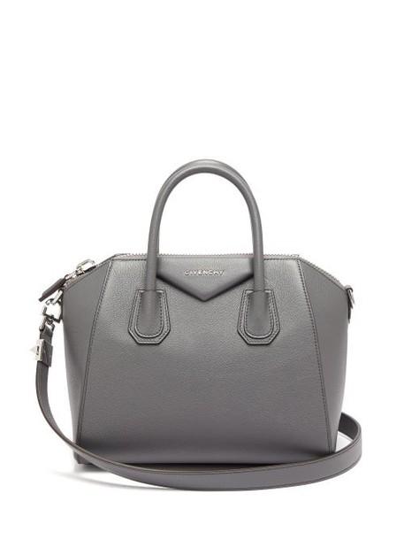 Givenchy - Antigona Small Leather Bag - Womens - Dark Grey