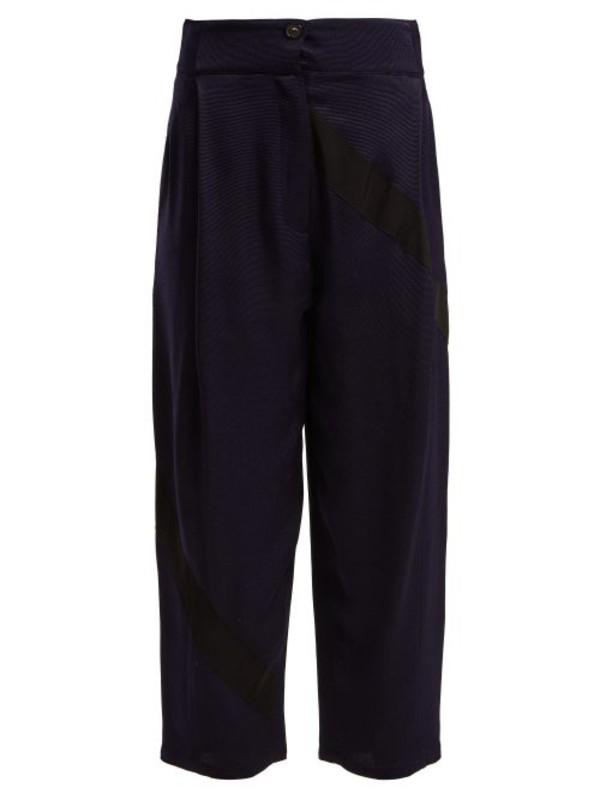 Palmer/harding Palmer//harding - Static High Rise Wide Leg Trousers - Womens - Navy Multi