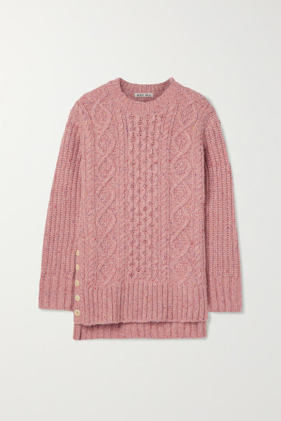 Alex Mill - Oversized Cable-knit Merino Wool-blend Sweater - Pink