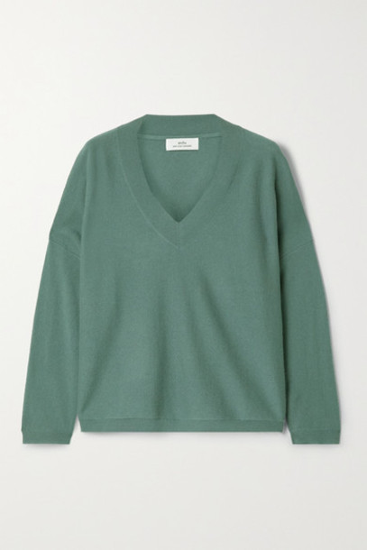 Arch4 - Linda Cashmere Sweater - Gray green