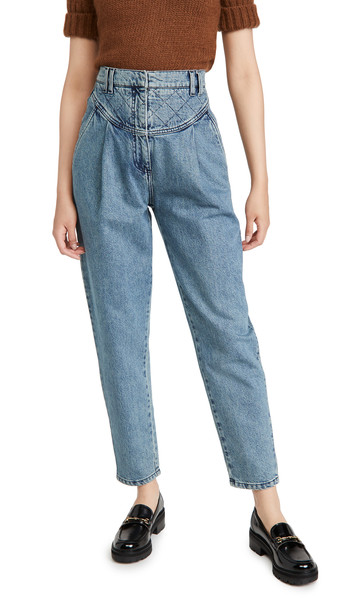 Philosophy di Lorenzo Serafini Quilted Waist Jeans in blue