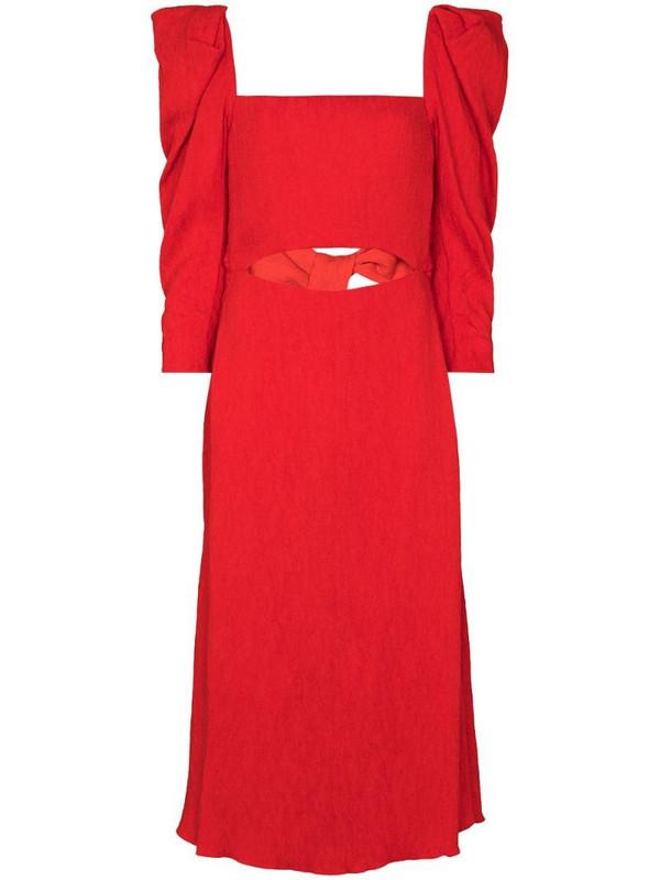 Johanna Ortiz Lady of Heaven flared dress in red