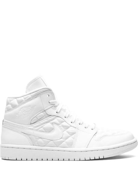 "Air Jordan 1 Mid ""Quilted White"" sneakers"