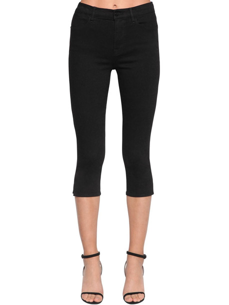 FRAME Le High Pedal Pusher Cropped Jeans in black